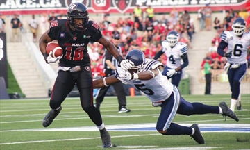 Happy homecoming; Some missed passes, but a win for RedBlacks and TD P– Image 1