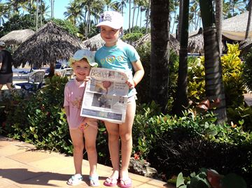 BEAVER TRAILS TO PUNTA CANA: Olivia and Maya Nowak took the Oakville Beaver to sunny Punta Cana.
