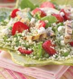Grilled chicken and strawberry Hens meet their maker couscous salad a – Image 1