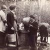 Gathering maple sap in Germania in the  early 1900s.