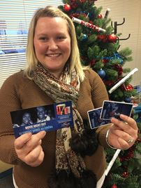 Win these great gift cards Mandy is holding!