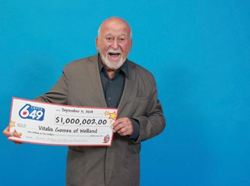 Welland man wins Guaranteed $1 Million Prize