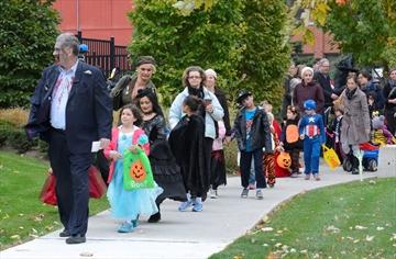 Halloween walk for military families
