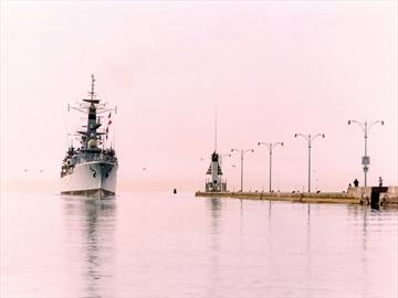 HMS Ajax 40th anniversary Oshawa harbour