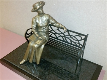 Lucy Maud Montgomery in Bronze