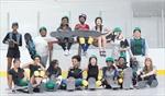 All-girl skateboarding program