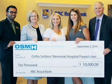RBC donates $10,000 to Orillia hospital