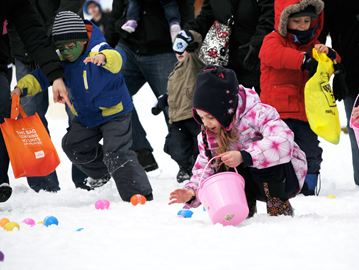 Easter eggs, winter jackets and snow was the theme of last year's Easterfest at Downey's Farm Market. Cross your fingers there won't be any more snow when the farm celebrates its 13th Easterfest beginning this Saturday.