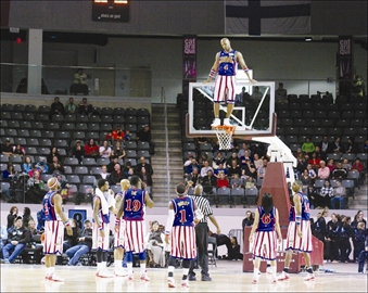 Top Left: The legendary Harlem Globetrotters returned to the Rogers K-Rock Centre on Thursday April 3rd bringing their basketball wizardry and comedy routines the Kingston audience.