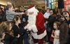 Santa arrives at Burlington Mall
