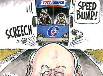 Today's Cartoon: Speed Bump