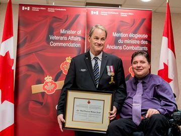 Milton PTSD survivor receives Veterans Affairs commendation