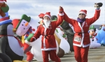 Santa Run finish
