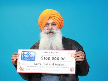 Alliston man wins Lotto Max encore