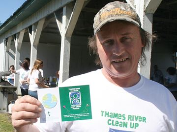 Thames River Clean Up founder Todd Sleeper