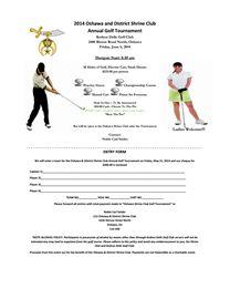 Oshawa & District Shrine Club - Annual Golf Tournament