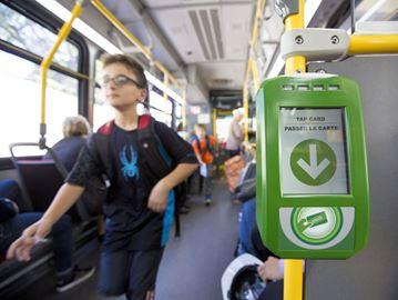 TTC bus Presto reader