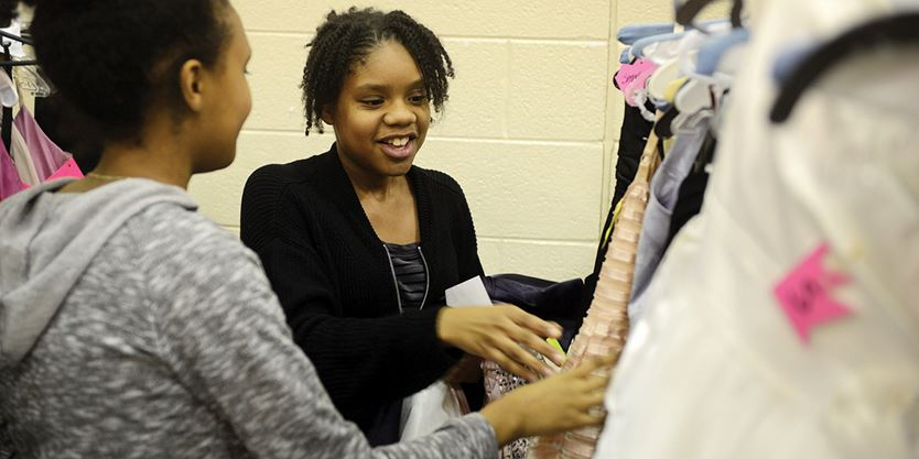 c44ac0f46ba Durham students get free prom dresses at Gowns for Girls event ...