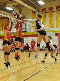Longhorns top Nelson in epic battle for AA volleyball title