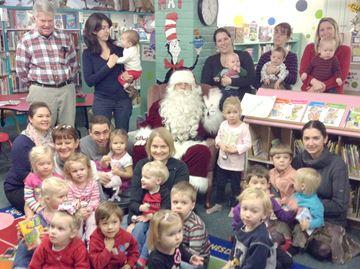 Santa visits Meaford Library