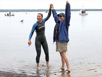 Nepean swim coach first to finish four-kilometre race– Image 1