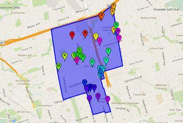 Ward 15 Eglinton-Lawrence voting locations