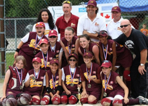 Canada midget girls softball championship in guelph