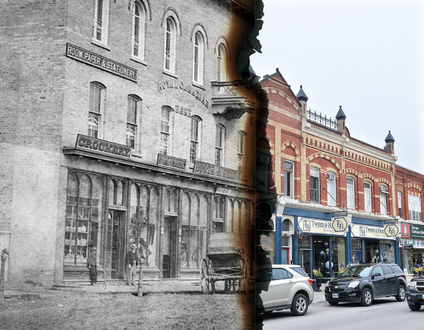Slowly Over The Six Months That Followed Fire Buildings Sprung Back Up Throughout Downtown Core And Port Perry Was Reborn