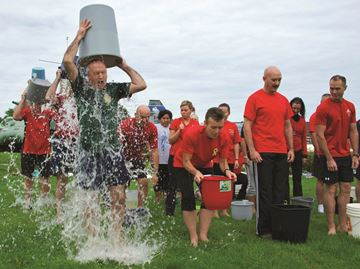 Base Borden answers ALS Ice Bucket Challenge