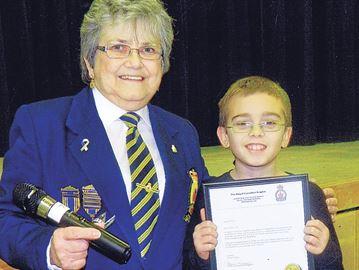 Victoria Harbour Legion recognizes young poet