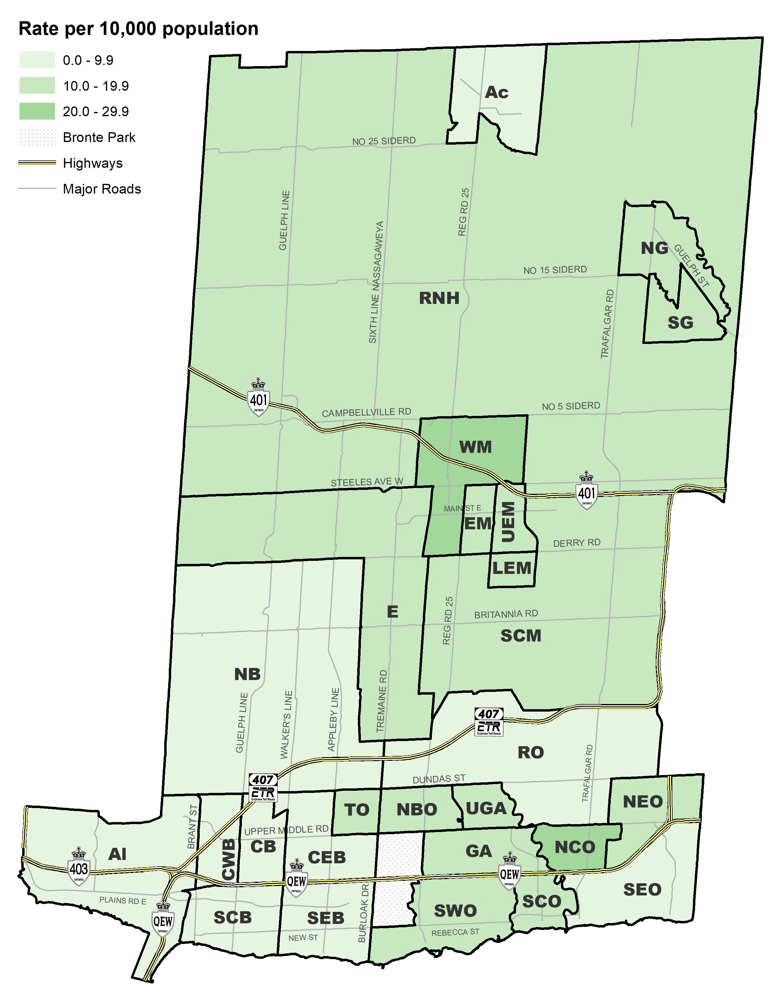 New Halton Region Report Shows Covid 19 Cases By Neighbourhood In Oakville And Burlington As Well As Milton And Halton Hills Hamiltonnews Com