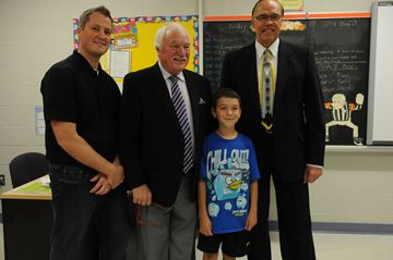 Mayor visits Monsignor O'Donoghue