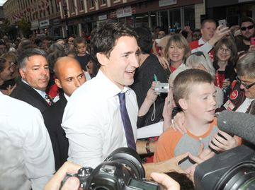Liberal leader Justin Trudeau in Port Hope