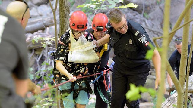 Burlington fire crews rescue two hikers
