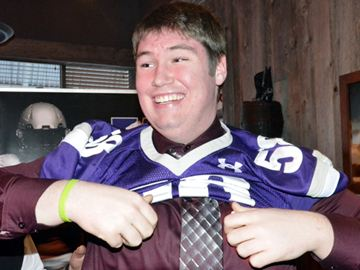 Jeremy O'Neill was just one of six offensive lineman unveiled when the Western Mustangs released their list of 2014 recruits at Lone Star Texas Grill on Thursday (March 6).
