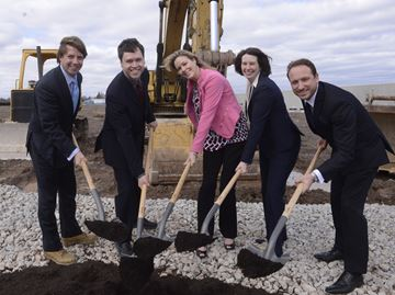 Oakwoods Business Park - 42-acre site - breaks ground in Oakville