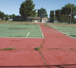 Community garden idea pitched for Clancy tennis courts