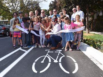 Bike path opening