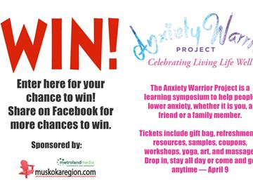 Win tickets to Anxiety Warrior Project!