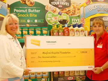Valu-Mart donates to Meaford Hospital Foundation