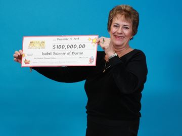 Isabel Skinner of Barrie wins $100,000 in Wheel of Fortune lottery game