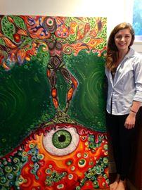 Oakville Trafalgar student's artworks on display at Aroma café