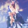 Ariana Grande leaning on Lea Michele-Image1