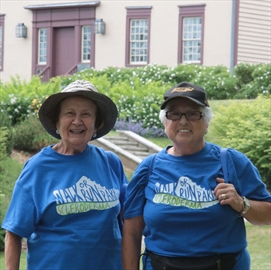Maria DiPietro, left, and friend Gina Cafazzo were among the participants at the Walk, Run or Ride in the Park for Scleroderma on June 16 at Battlefield Park. Cafazzo, who is living with scleroderma, has participated in the walk for 18 years.