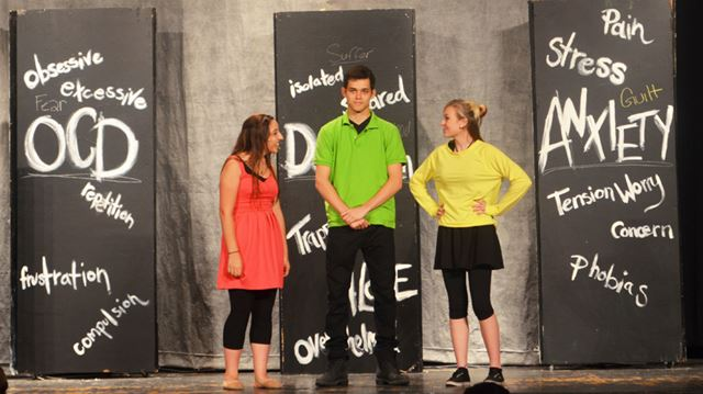 Holy Cross students perform Shattered