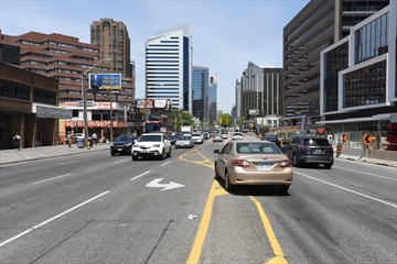Police officers issued 256 tickets to drivers during a recent traffic blitz on North York's Yonge Street.