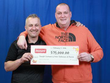 Barrie friends win $75,000
