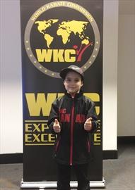 Waterdown's James Tufford, 8, will compete at the WKC World Karate Championships this fall in Niagara Falls, New York. Fellow Waterdown martial artist Cameron Steele, 10, will also compete.