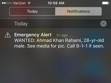 Mobile phone emergency alert