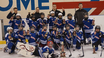 The Oakville minor atom red Ice Hawks won all five of their games, including a 4-3 victory over a Forest Hill select squad in the final, to win the recent Don Montgomery Memorial hockey tournament in Toronto. Members of the team are Nolan Bourdeau, Jake Branco, Alex Del Monte, Joshua Finkle, Evan Foulon, Jacob Hill, Connor Johnston, Royce Laramee, Ben Leitao, Aidan MacCormack, Cole Patton, Matthew Ritchie, Steven Skjarum, Jaiden Thiara, Connor Usaty and Jake Walker.  Armando Leitao is the head coach, assisted by Justin MacCormack and Ryan Procunier. The trainer is Richard Hill and manager is Karen Skjarum.